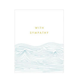"""PPS - Card / With Sympathy, Waves, 4.5 x 6"""""""