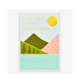 """PPS - Card / Take Time to Rest and Recover, 4.75 x 6.75"""""""