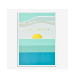 """PPS - Card / With Sympathy, Seaside Sunset, 4.75 x 6.75"""""""