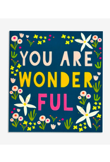 """PPS - Card / You Are Wonderful, 5.5 x 6"""""""