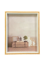 """AES - Picture Frame/White & Natural, 8 x 10"""""""