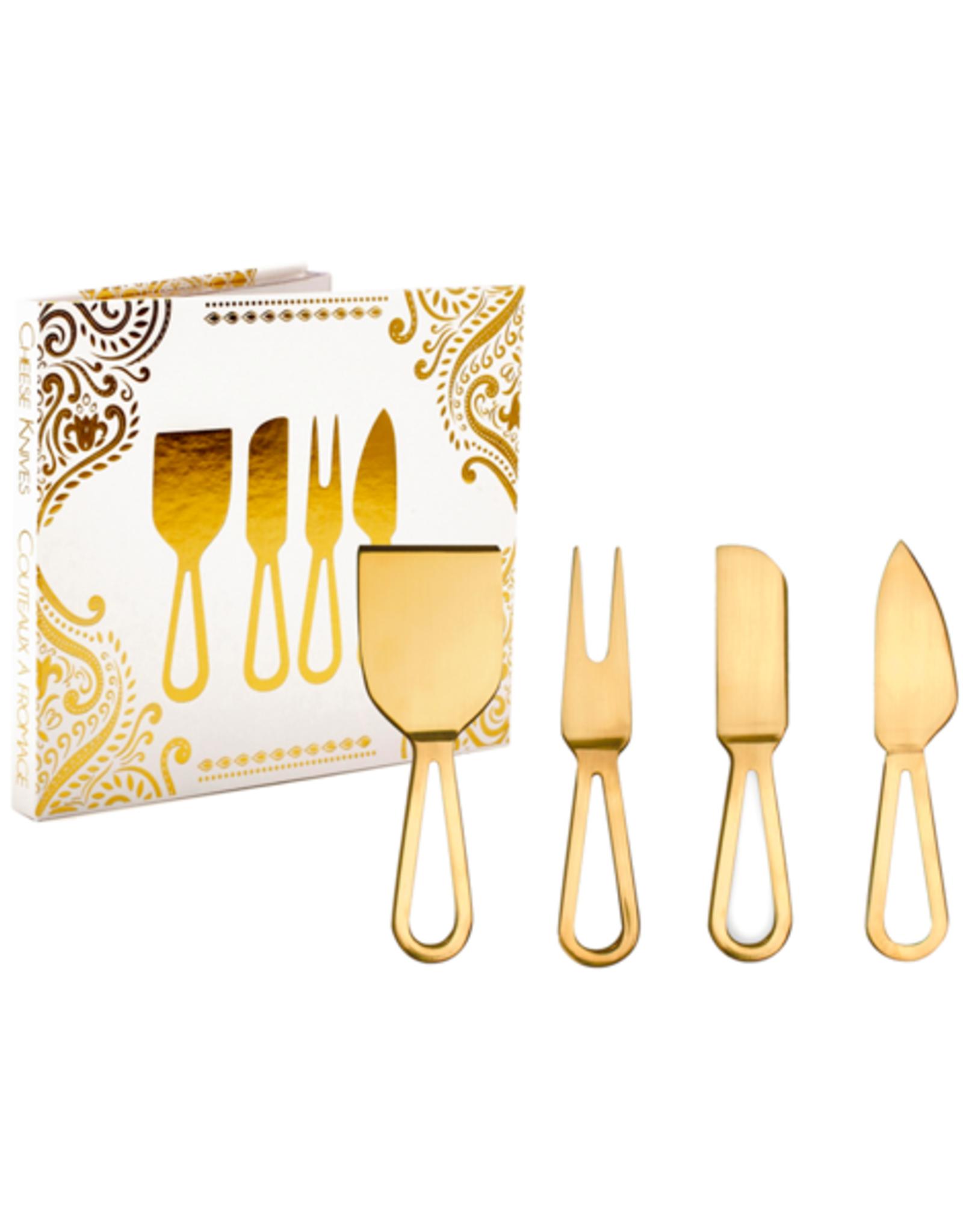 DCO - Cheese Knives/Set 4, Gold