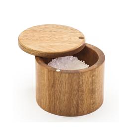 """DCO - Swivel Salt Keeper / Acacia Wood, 3.5"""""""