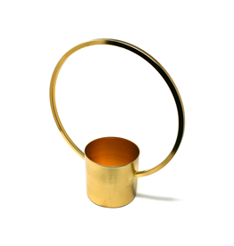 DCO - Hanging Plant Pot/Chelsea, Brass, 6""