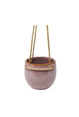 "NIA - Hanging Plant Pot/Misty Rose, Ceramic, 4"""