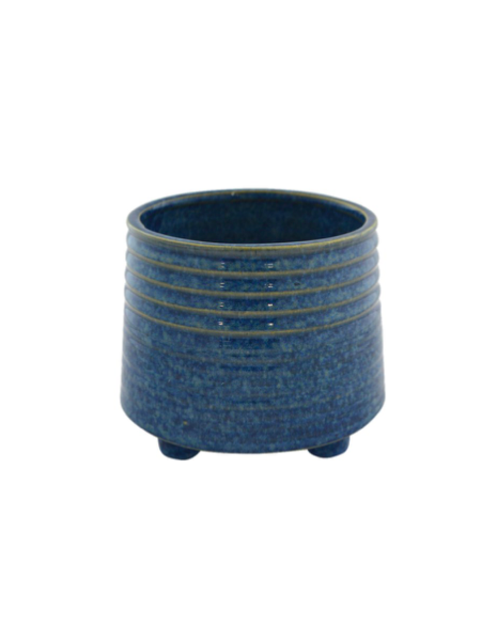 """NIA - Footed Plant Pot/Bright Blue, 5"""""""