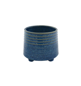 NIA - Footed Plant Pot/Bright Blue, 5""