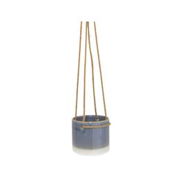 "NIA - Hanging Plant Pot/Vintage Blue, Ceramic, 4.25"""