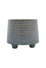 """NIA - Footed Plant Pot/Light Blue, 4"""""""
