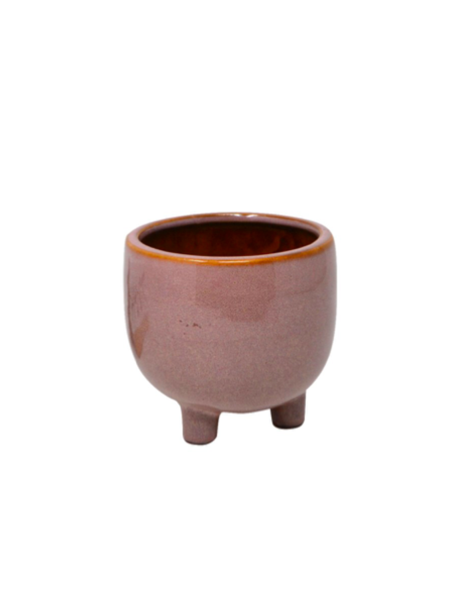 """NIA - Footed Plant Pot/Misty Rose, 3.5"""""""