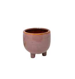 """NIA - Footed Plant Pot / Misty Rose, 3.5"""""""