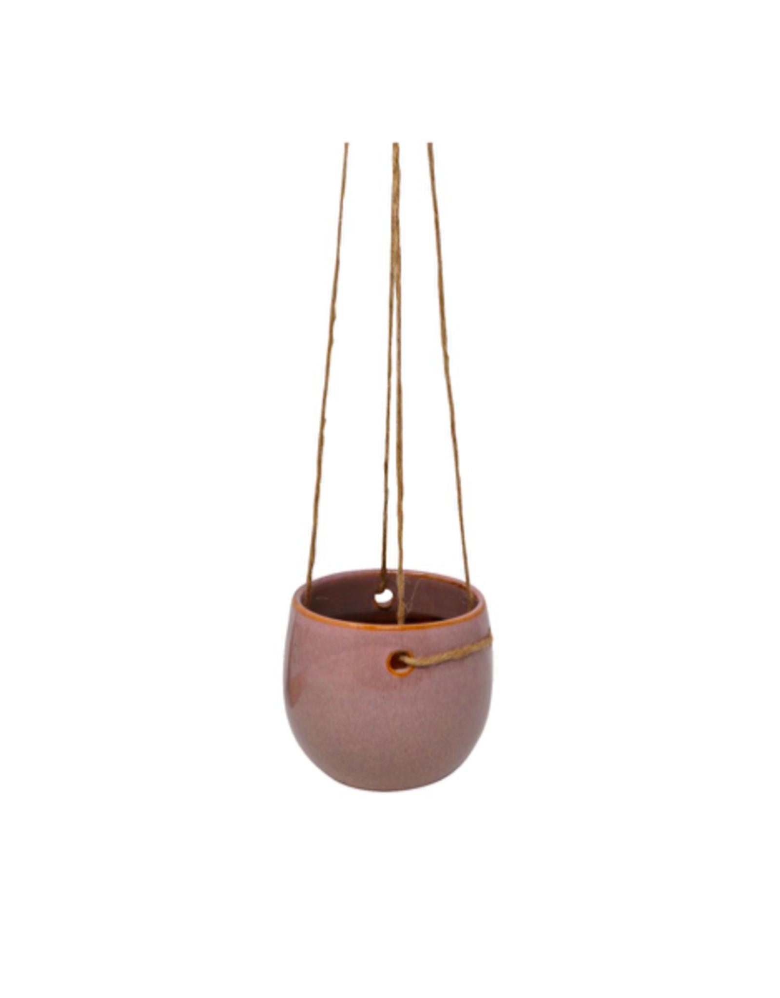 "NIA - Hanging Plant Pot / Misty Rose, 3"""