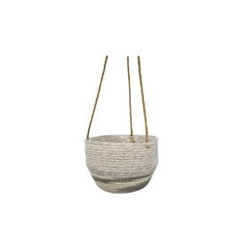 "NIA - Hanging Plant Pot / Fog, Rope, 9"""