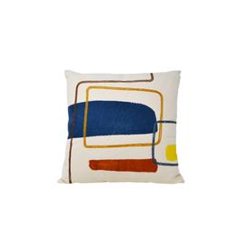 NIA - Cushion/Abstract Print, 18 x 18''