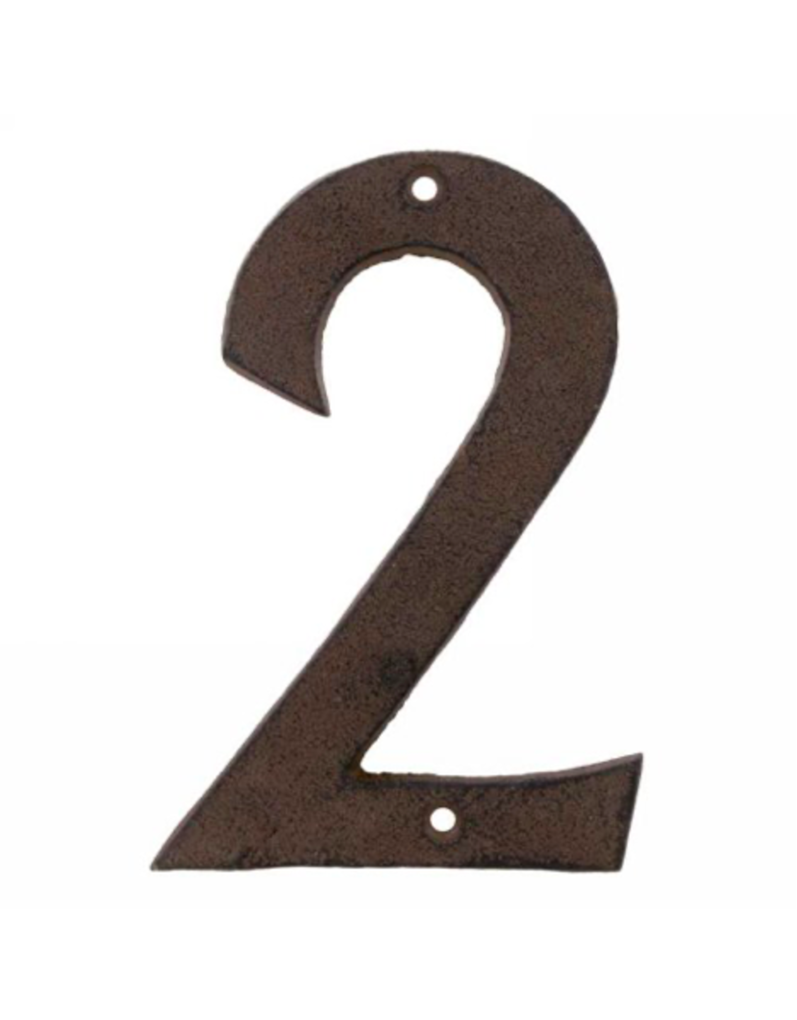 AES - House Number 2/Brown Cast Iron, 6""