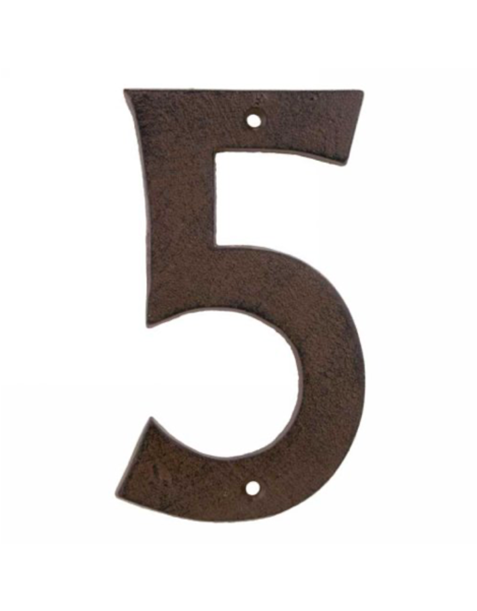 """AES - House Number 5/Brown Cast Iron, 6"""""""