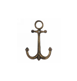 """AES - Double Wall Hook / Anchor, Gold, 7"""""""