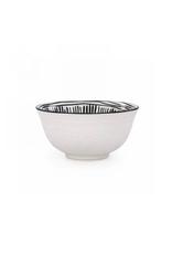 """AES - Bowl/Black & White, Embossed, 6"""""""