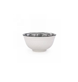 AES - Bowl/Black & White, Embossed, 6""