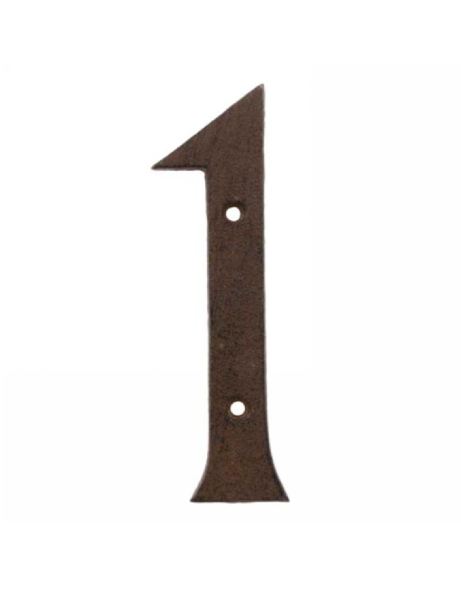 AES - House Number 1/Brown Cast Iron, 6""