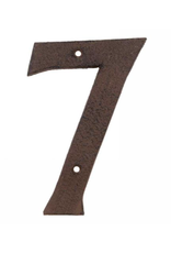 """AES - House Number 7/Brown Cast Iron, 6"""""""