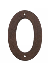 """AES - House Number 0/Brown Cast Iron, 6"""""""
