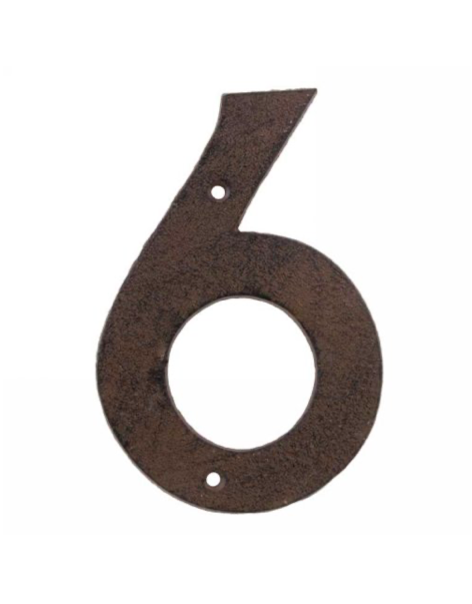AES - House Number 6/Brown Cast Iron, 6""