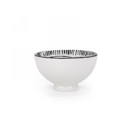 AES - Bowl/Black & White, Embossed, 4.5""