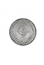 """AES - Bowl/Black & White, Embossed, 4.5"""""""