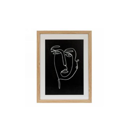 AES - Framed Print/Abstract Portrait, 13 x 17""