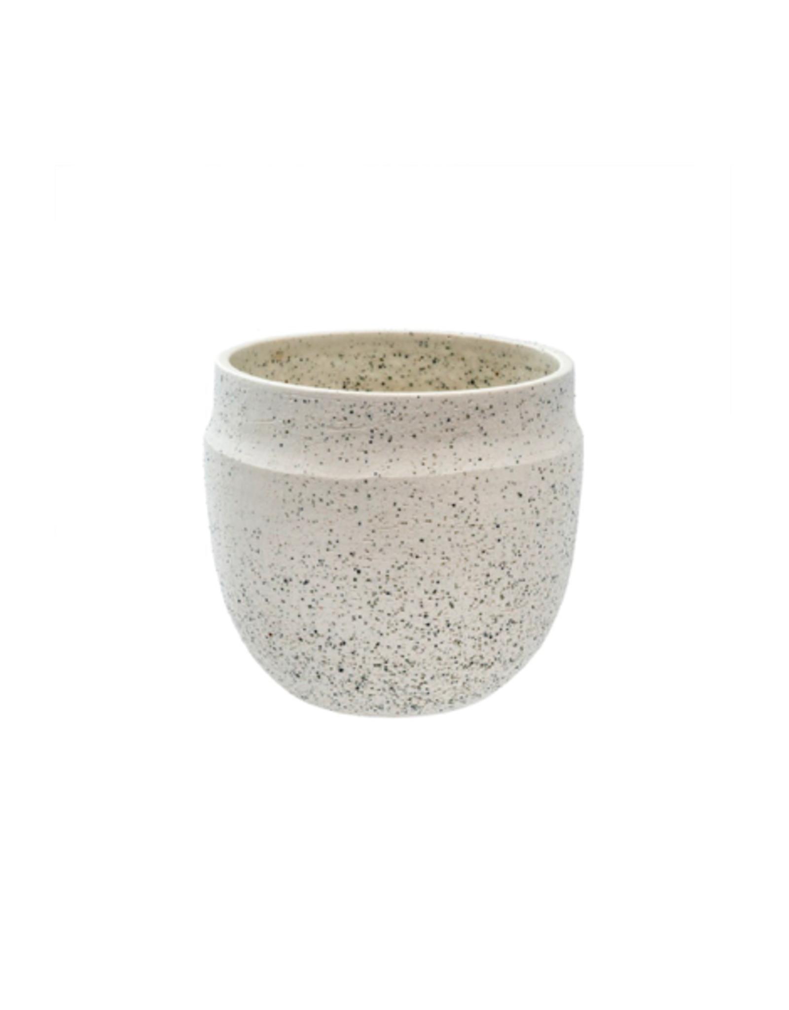 "IBA - Plant Pot / Ivory Specks, 3.5"""