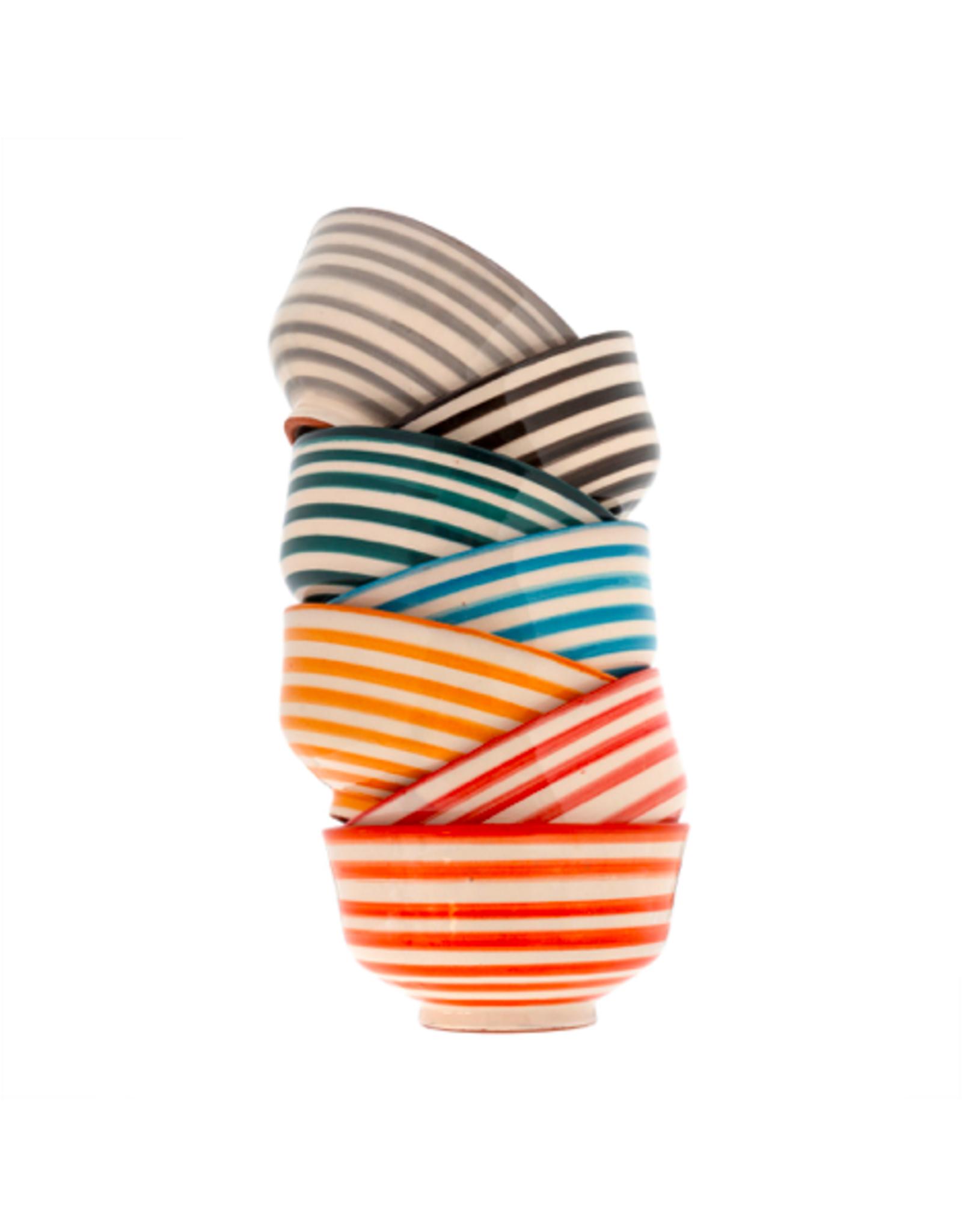 "IBA - Bowl / Teal Stripe, 4.5"""
