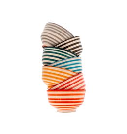 "IBA - Bowl/Teal Stripe, 4.5"""