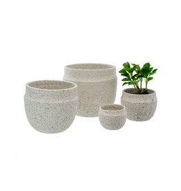 "IBA - Plant Pot/Ivory Specks, 2.5"""