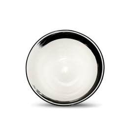 "ICM - Bowl / White, Ink Stroke, 8"""