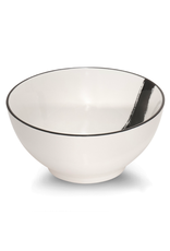 "ICM - Bowl / White, Ink Stroke, 6"""