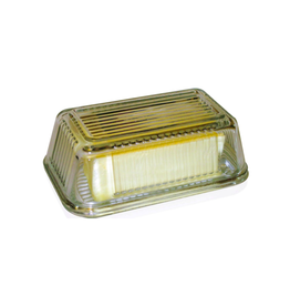 PLE - Butter Dish/Glass, Clear, 1lb
