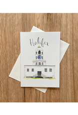 """Orchid & Ivory - Card/Halifax Town Clock, 5 x 7"""""""