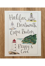 "Orchid & Ivory - Print/Halifax, Dartmouth, Cape Breton & Peggy's Cove, 8 x 10"""