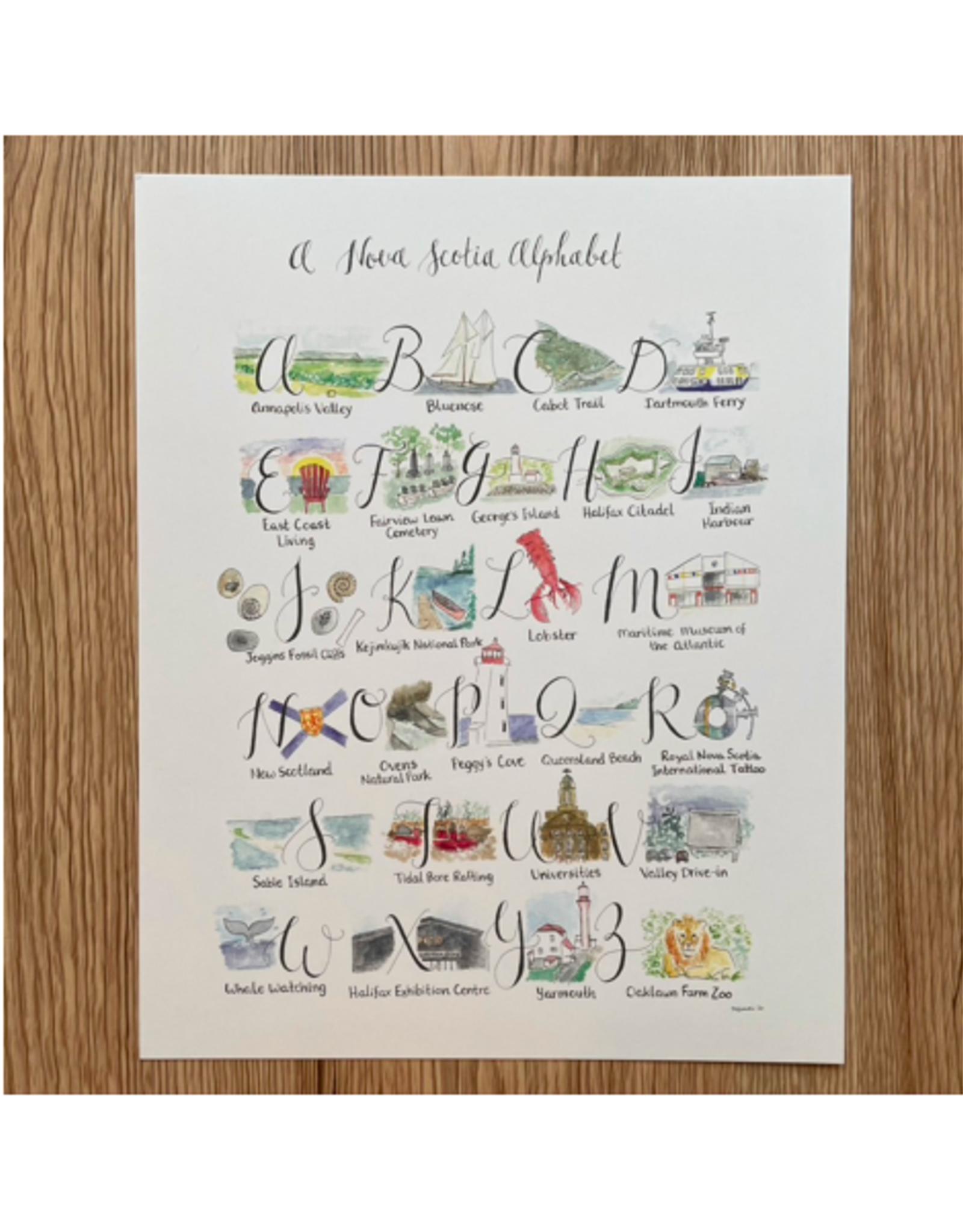 "Orchid & Ivory - Print/Nova Scotia A-Z Alphabet, 8 x 10"""