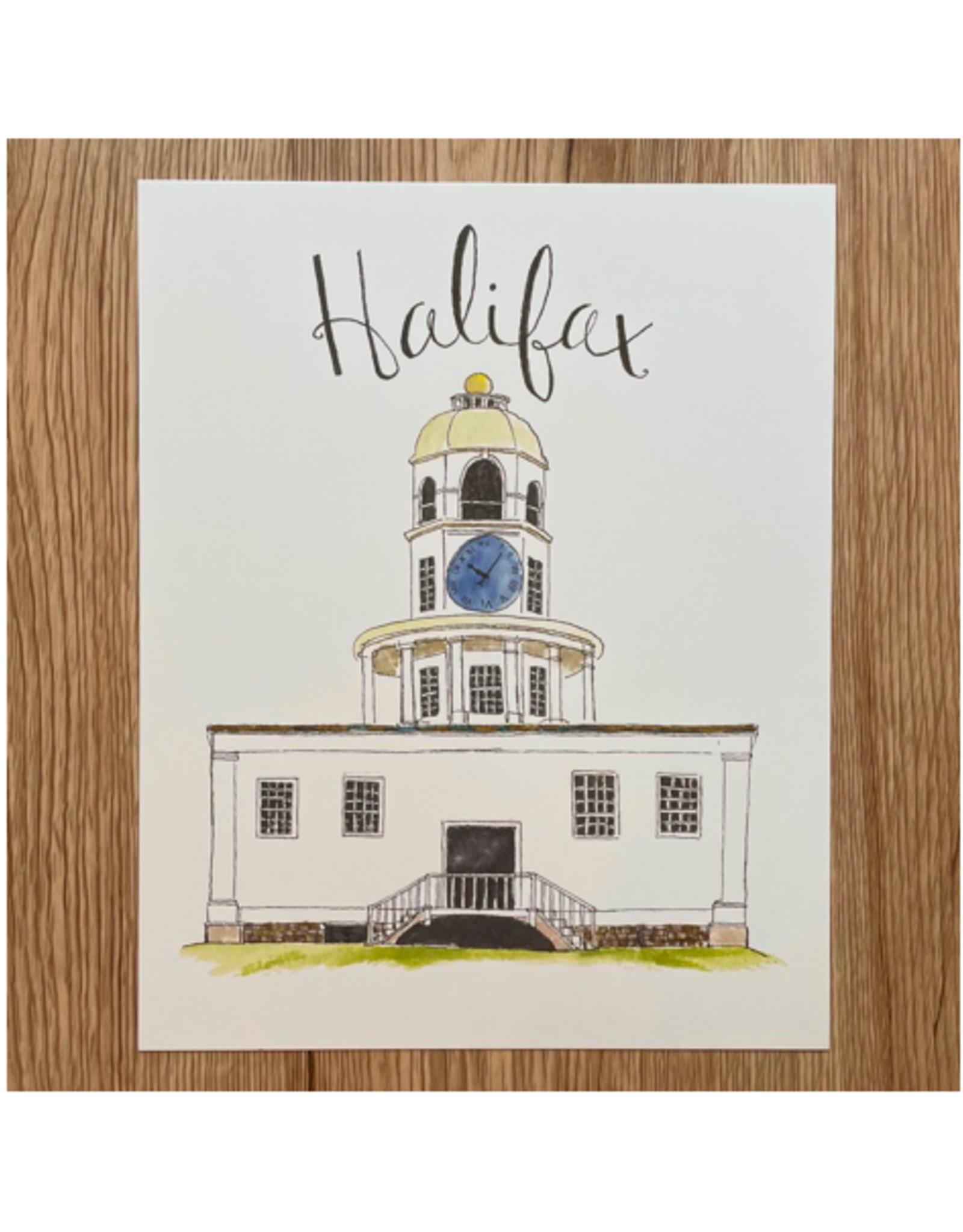 "Orchid & Ivory - Print/Halifax Town Clock, 8 x 10"""