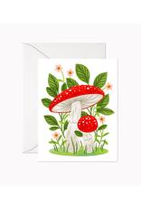 """LER - Card/Mushrooms, 4.25 x 5.5"""""""