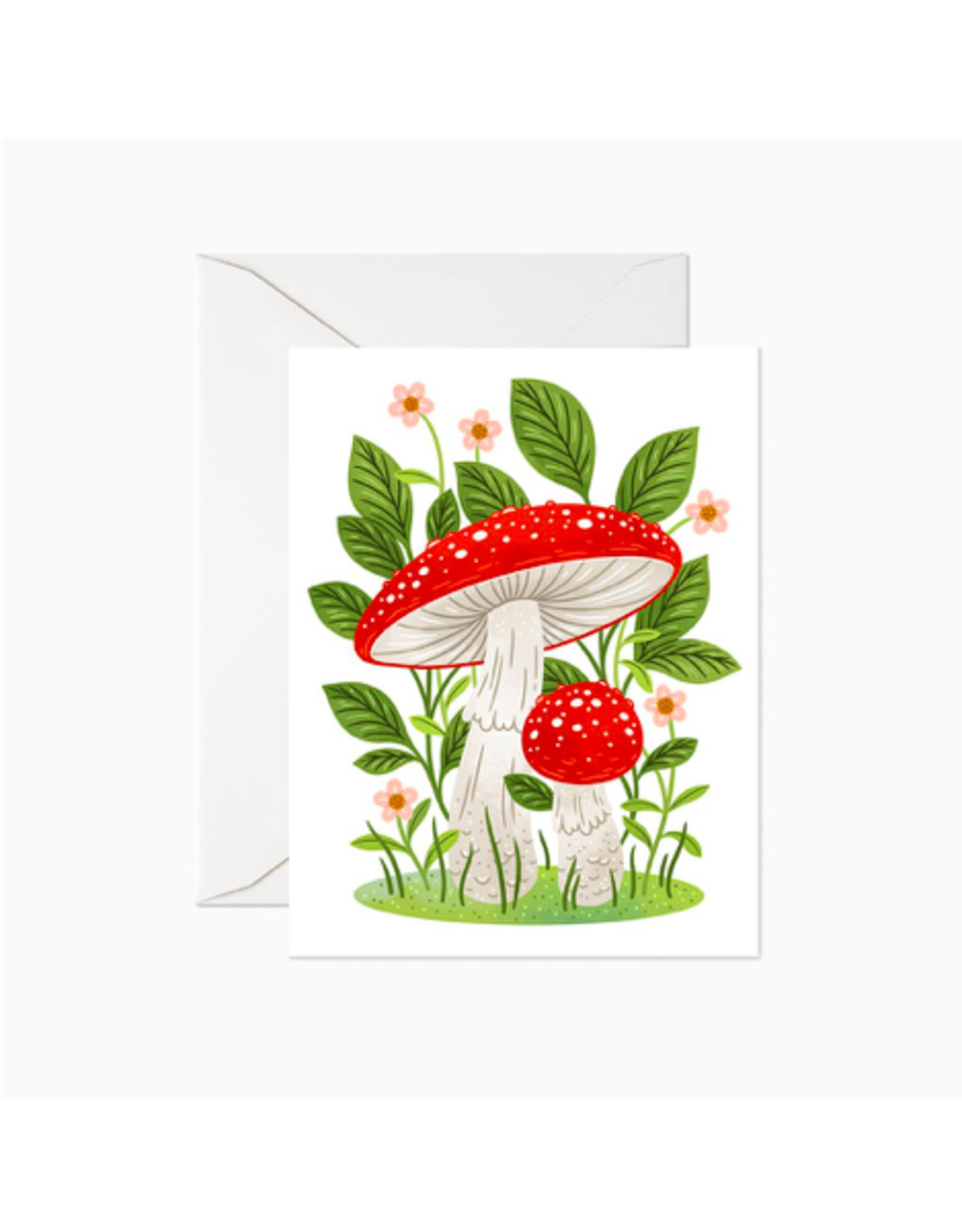 "Linden Paper - Card / Mushrooms, 4.25 x 5.5"""