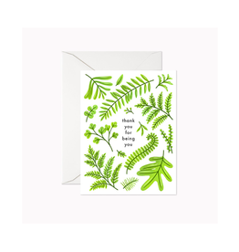 """Linden Paper - Card / Thank You for Being You, 4.25 x 5.5"""""""