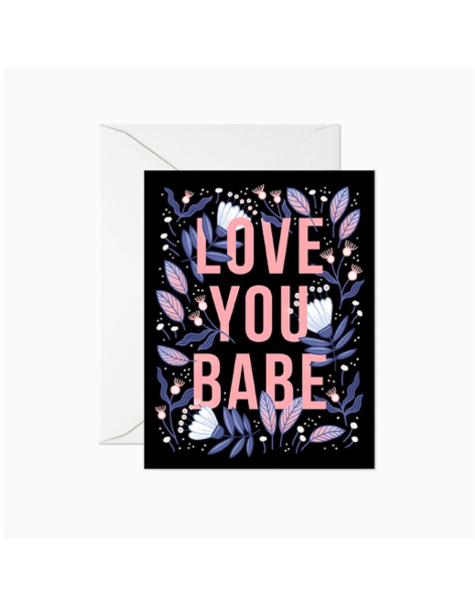 """LER - Card/Love You Babe, 4.25 x 5.5"""""""