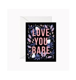 """Linden Paper - Card / Love You Babe, 4.25 x 5.5"""""""