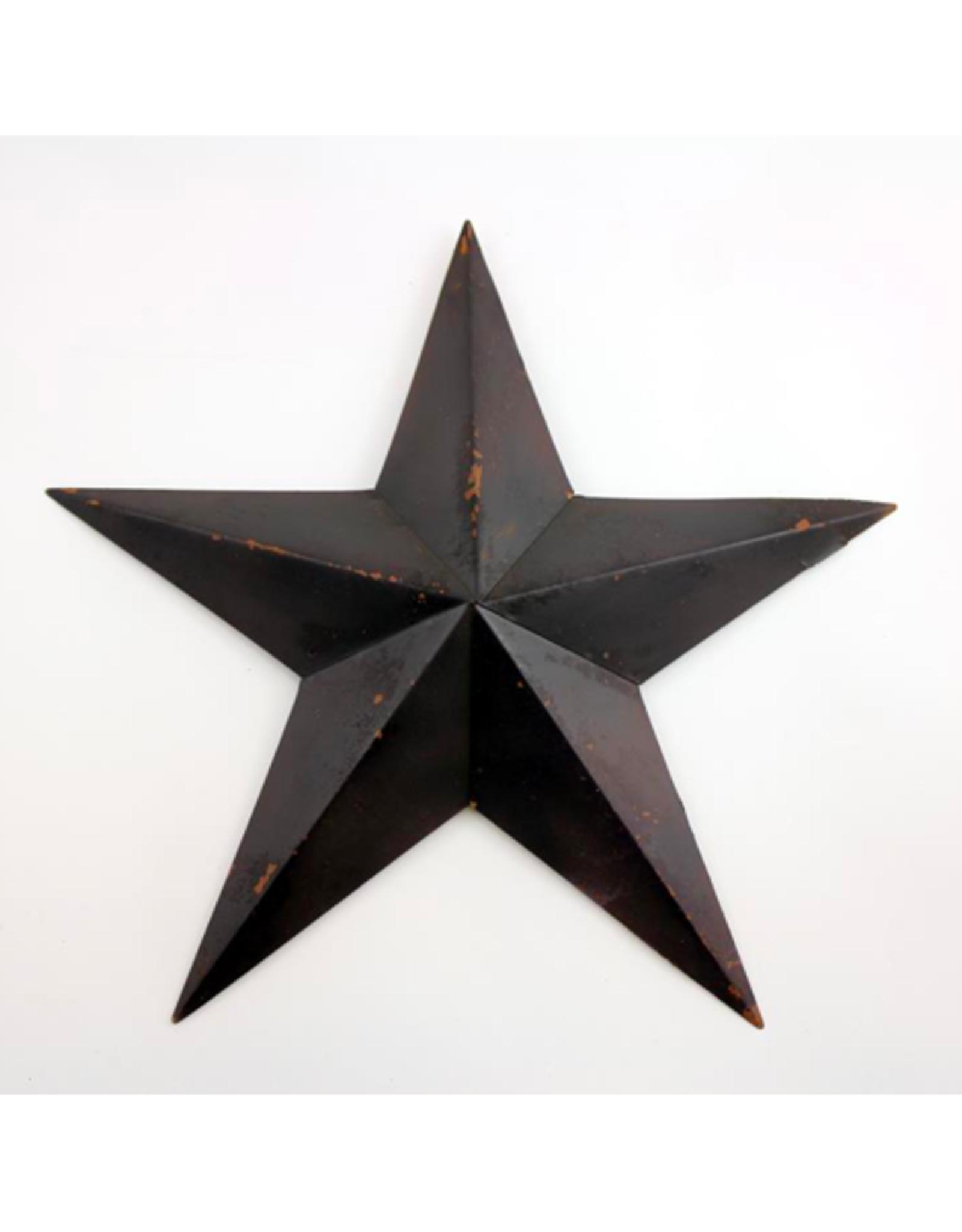 """FRS - Wall Hanging / Star, Black Metal, 18"""""""