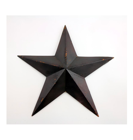 FRS - Wall Hanging/Star, Black Metal, 18""
