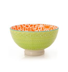DCO - Bowl/Orange, Footed, Embossed, 4.75''