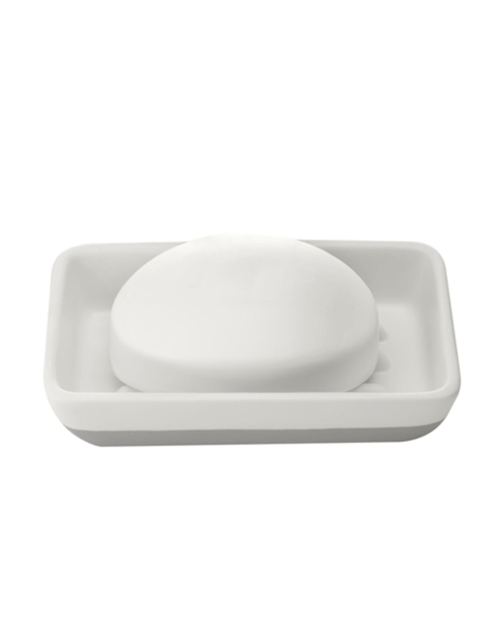 DCO - Soap Dish/Raised, White
